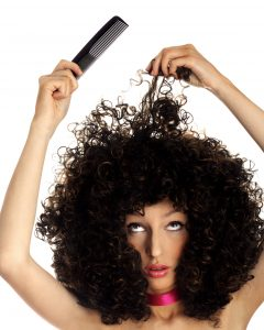 combing curly hair from the ends to start